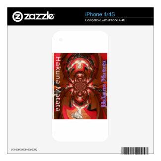 Rojo especial de Haloween de los regalos de Hakuna Calcomanías Para El iPhone 4S