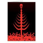 Rojo esquelético del árbol del navidad tarjeta