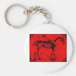 Rojo esquelético del caballo llavero