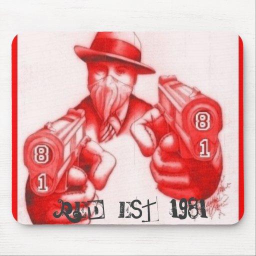 , (rojo) EsT. 1981 Alfombrillas De Ratón