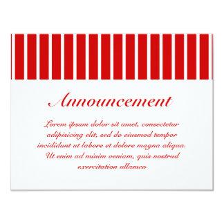 Rojo estrecho de la raya + Color de encargo Comunicado Personalizado