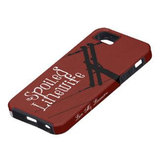 Rojo estropeado de Linewife Funda Para iPhone 5 Tough