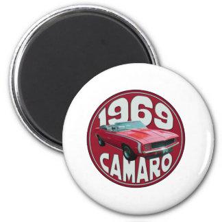 Rojo estupendo de Camaro 1969 del deporte Iman Para Frigorífico