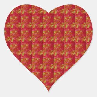 Rojo EXÓTICO tomado de la flor: Arte NAVIN JOSHI Pegatina En Forma De Corazón