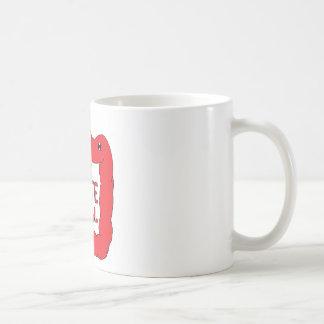 Rojo feliz de la taza de los dos puntos