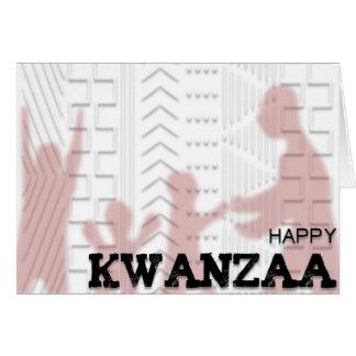 Rojo feliz del diseño del paño del fango de tarjeta de felicitación