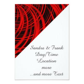 """Rojo feliz, negro (c) invitación 5"""" x 7"""""""