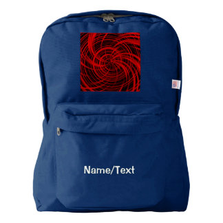 Rojo feliz, negro (c) mochila