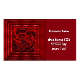 Rojo feliz, negro (c) tarjetas de visita
