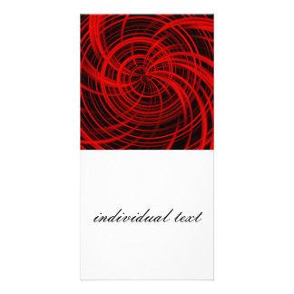 Rojo feliz, negro (c) tarjetas fotograficas