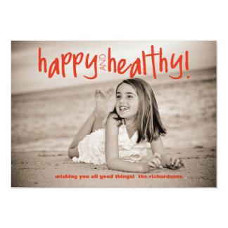 Rojo feliz y sano con la foto trasera anuncios