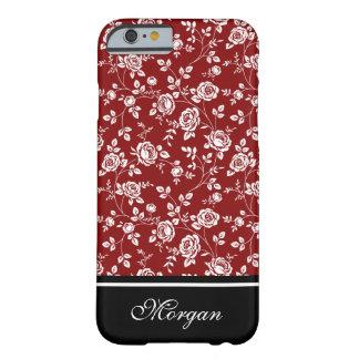 Rojo femenino o cualquier color subió el caso del funda para iPhone 6 barely there