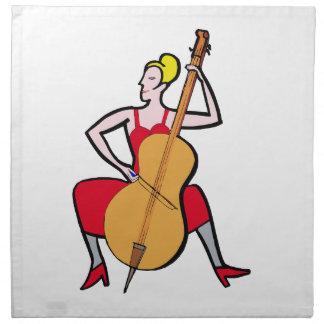 Rojo femenino rubio dress.png del bajista de la or servilletas