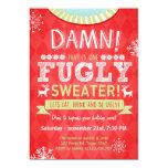 """Rojo feo del suéter de Fugly del fiesta del suéter Invitación 5"""" X 7"""""""