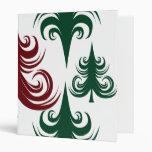 Rojo festivo del verde del modelo del árbol de nav
