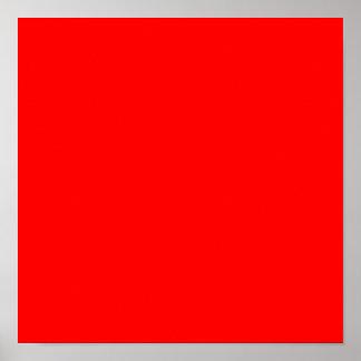 Rojo FF0000 Póster