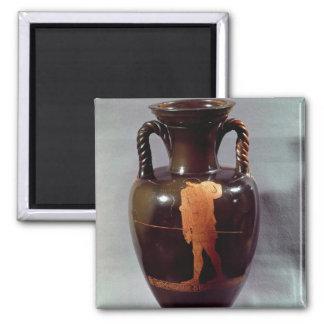 Rojo-figura amphora del ático iman de frigorífico