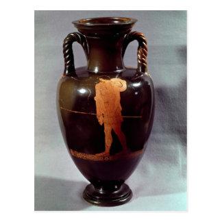 Rojo-figura amphora del ático tarjeta postal