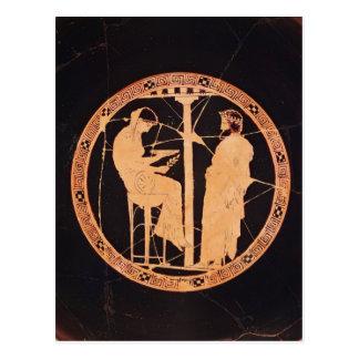 Rojo-figura ateniense kylix que representa Aegeus Postal