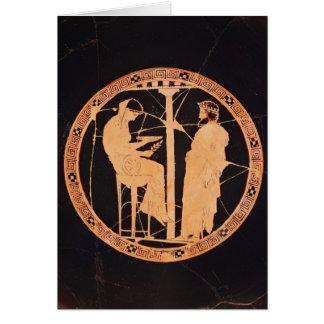 Rojo-figura ateniense kylix que representa Aegeus Tarjeta De Felicitación
