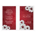 Rojo floral del boda de la dalia elegante del prog tarjeta publicitaria