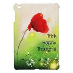 Rojo floral iPad mini fundas