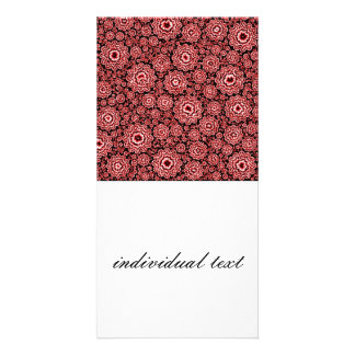 rojo floral trippy (c) tarjeta fotográfica
