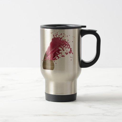 Rojo fresco abstracto de la pintura taza