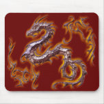rojo fuego del dragón tapetes de ratones