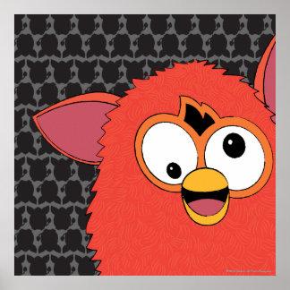 Rojo Furby de Phoenix Póster