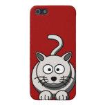 Rojo gatuno iPhone 5 cárcasas