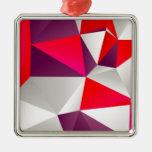 Rojo geométrico 02 adornos