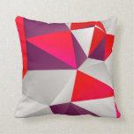 Rojo geométrico 02 almohada
