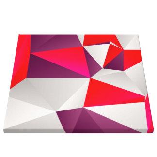 Rojo geométrico 02 impresion en lona
