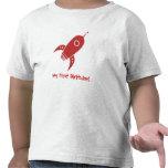 Rojo gordo de la nave de Rocket retro Camisetas