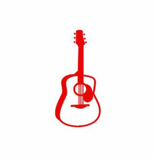 rojo gráfico resumido de la guitarra escultura fotografica