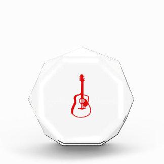 rojo gráfico resumido de la guitarra