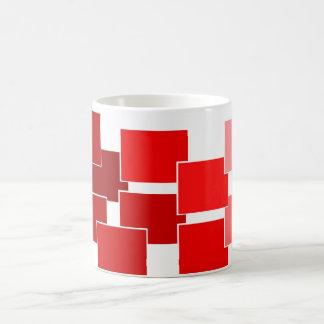 rojo gráfico taza