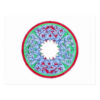 Rojo gráfico y azul del círculo del Victorian Postales