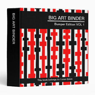 Rojo grande de la carpeta 010 del arte (el 1.5in),