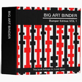 Rojo grande de la carpeta 010 del arte (los 2in),
