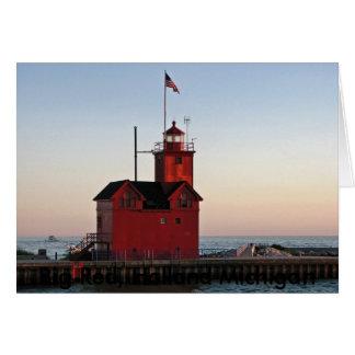 Rojo grande, Holanda Michigan Tarjeta Pequeña