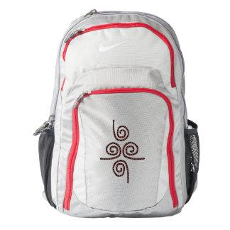Rojo gris de la mochila