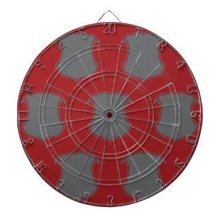 Rojo gris del escudo del escudo