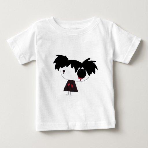 Rojo gritador playera para bebé