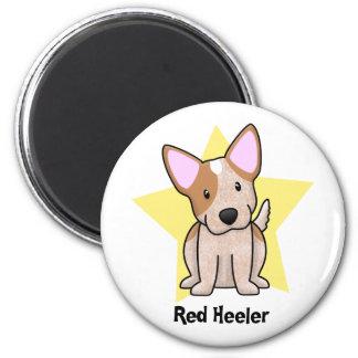 Rojo Heeler de la estrella de Kawaii Imán Redondo 5 Cm