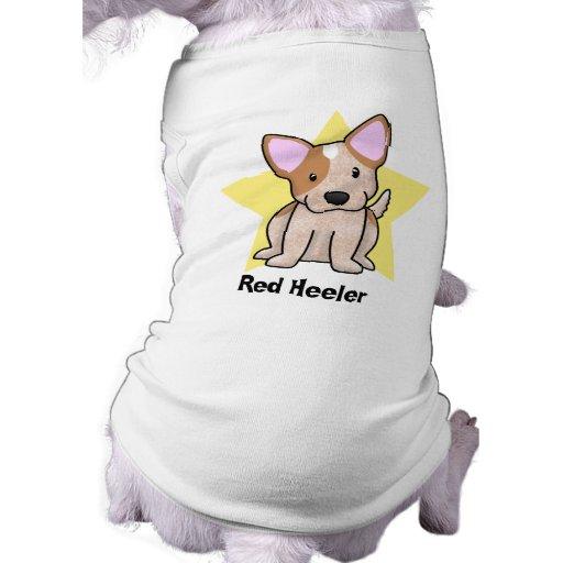 Rojo Heeler de la estrella de Kawaii Playera Sin Mangas Para Perro