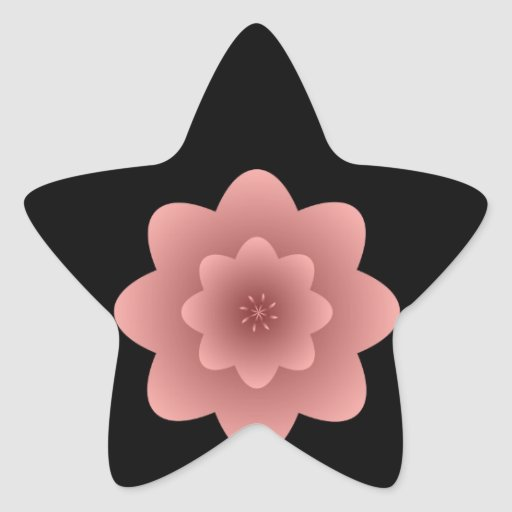Rojo hermoso del negro de la mujer de la silueta colcomanias forma de estrellaes personalizadas