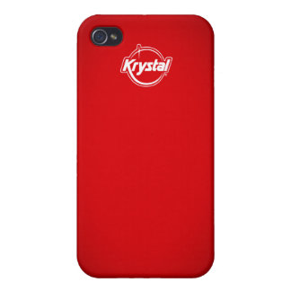 Rojo i de Krystal iPhone 4/4S Funda