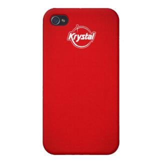 Rojo i de Krystal iPhone 4/4S Carcasa